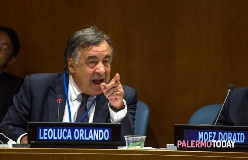 Leoluca Orlando, burgemeester van Palermo
