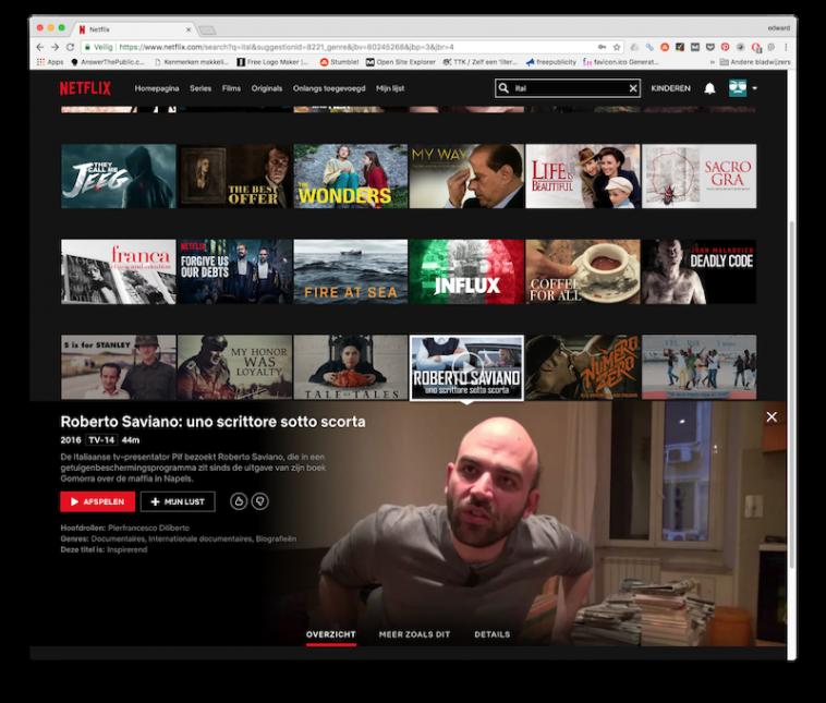 Netflix Italië via VPN