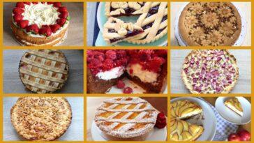 Collage van Italiaanse taarten