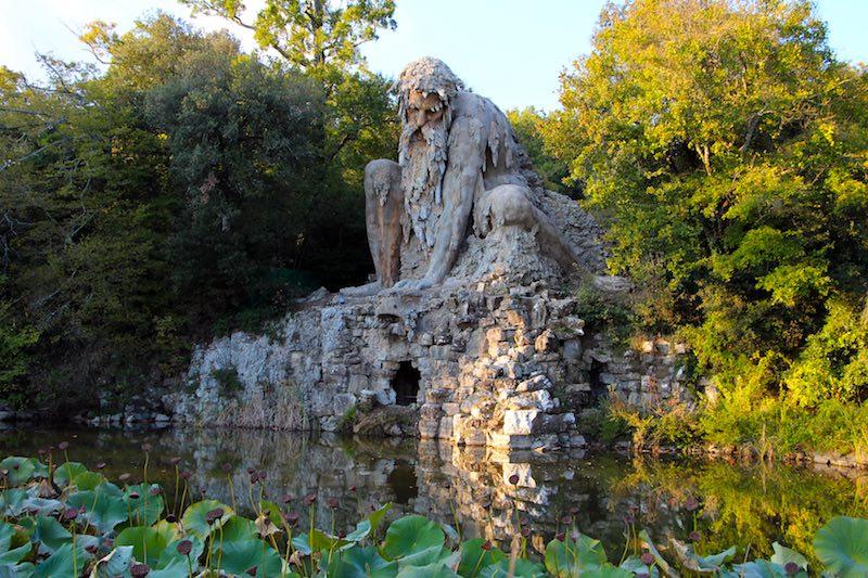 Het Parco di Pratolino met Il Gigante