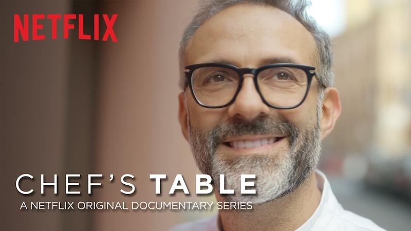 Bottura treedt ook op in de eerste aflevering van Chef's Table op Netflix
