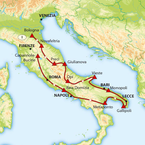 Rondreis Abruzzen - Apulië met ACSI