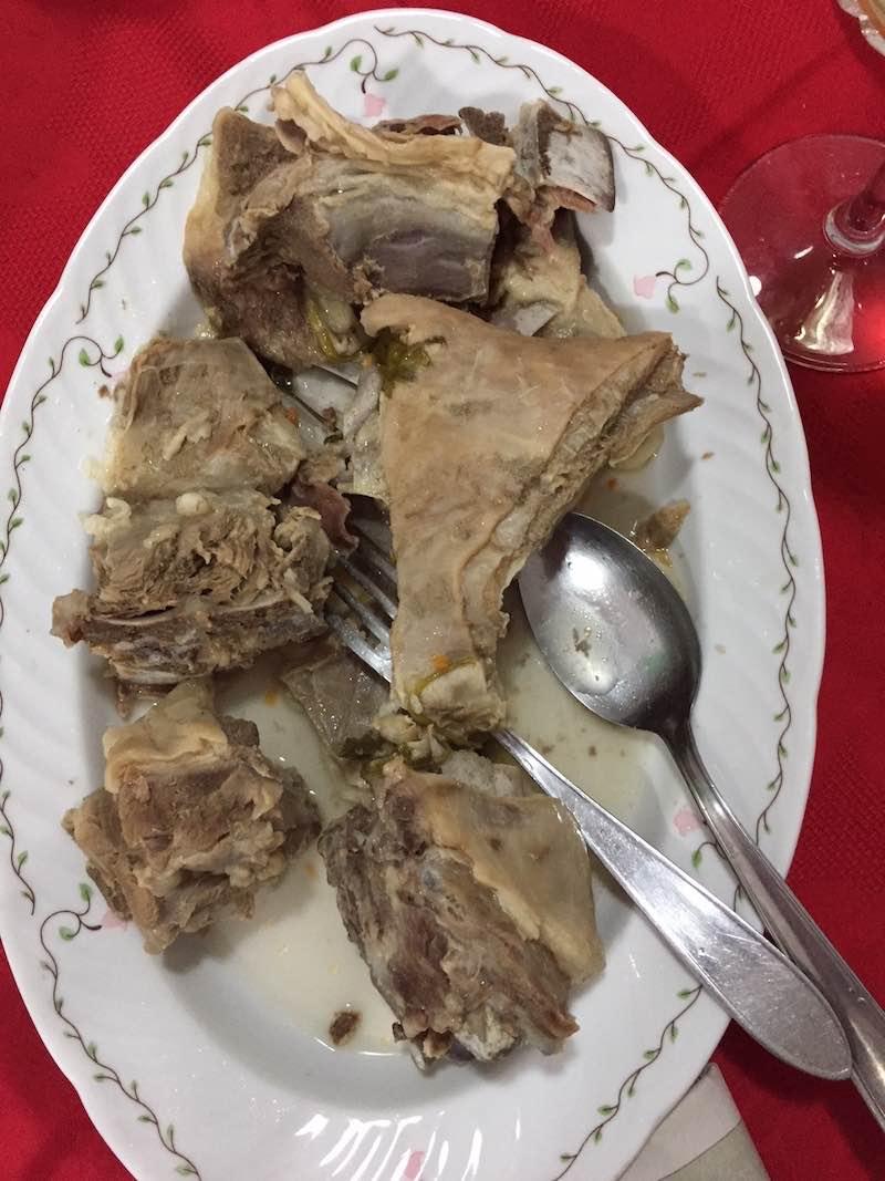 Pecora (gekookte schapenbout)
