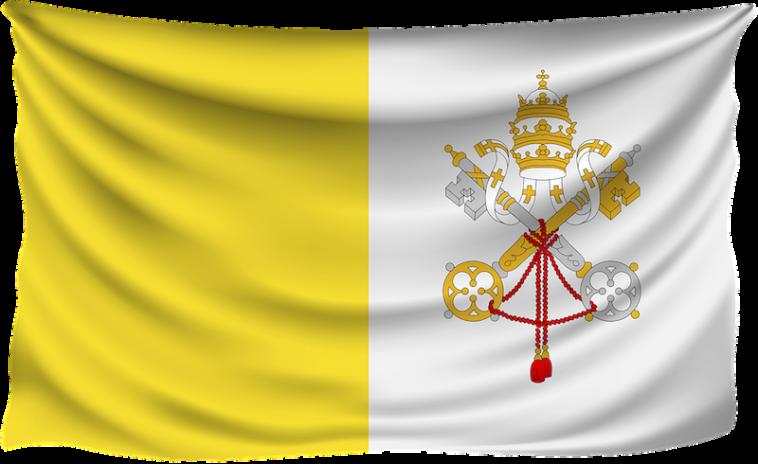 De geel-witte vlag van Vaticaanstad