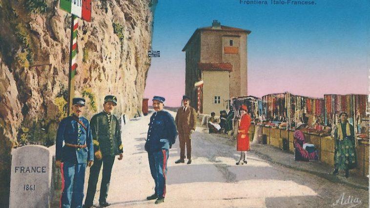 De grens tussen Italië en Frankrijk rond 1910 (bron: Wikimedia)
