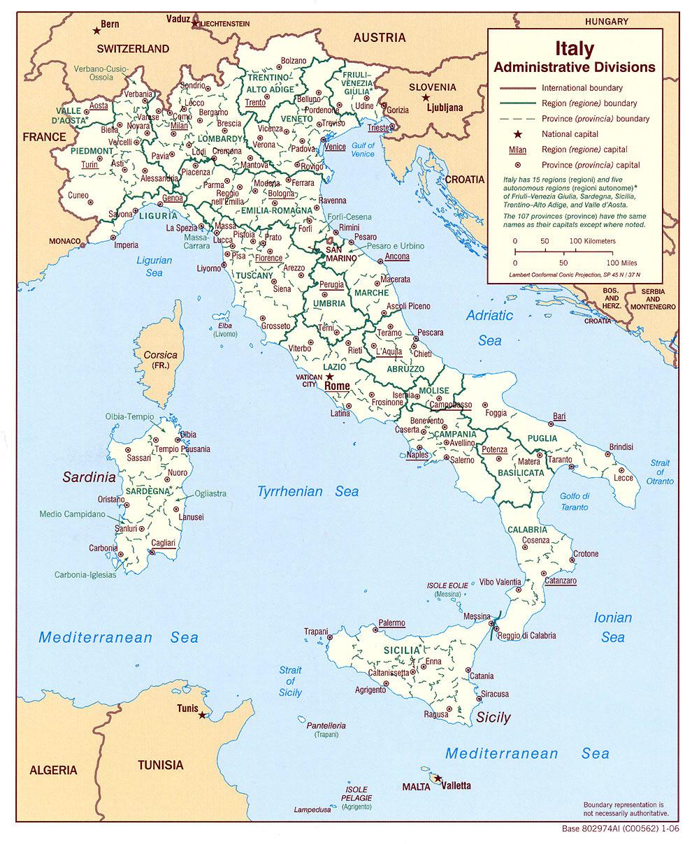 Tip Italie Kaart Nodig Bekijk Hier Kaarten Van Italie