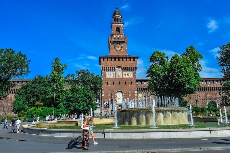 Mooi en markant: Castello Sforzesco in Milaan