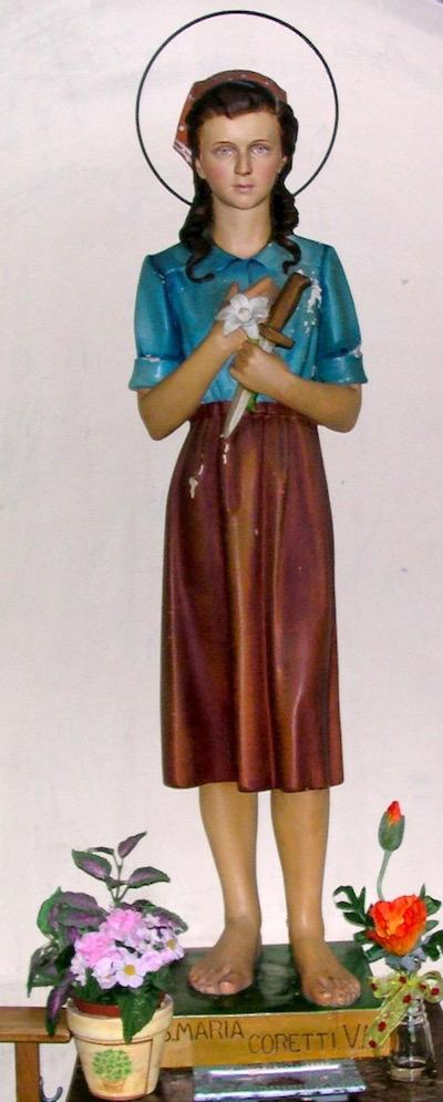 De heilige Maria Goretti van Corinaldo
