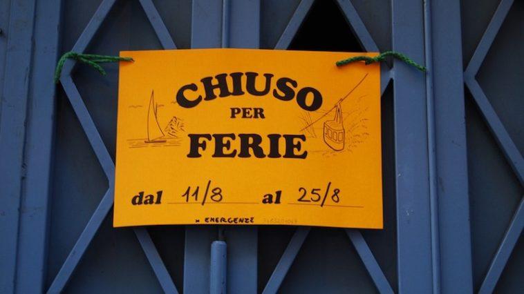 Chioso per ferie (wegens vakantie gesloten)