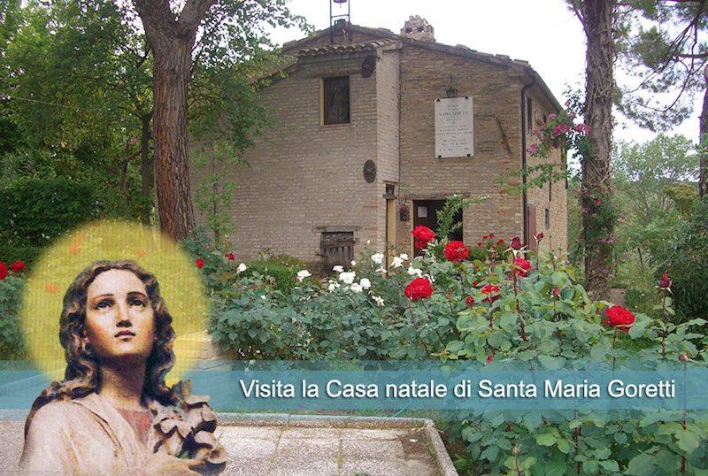 Het geboortehuis van Maria Goretti, even buiten Corinaldo