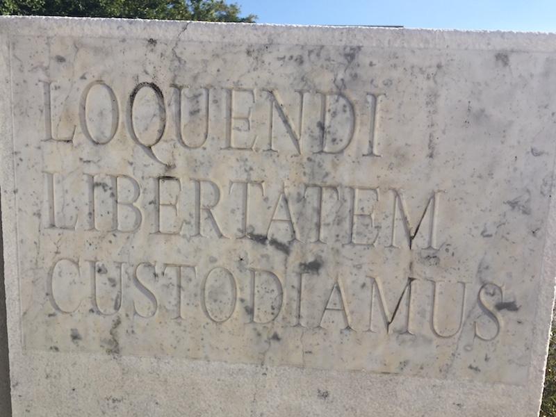 Loquendi Libertatem Custodiamus: laten we waken over de vrijheid van het woord