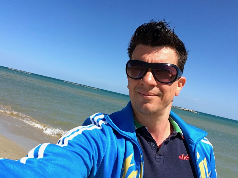 Bij Senigallia aan het strand