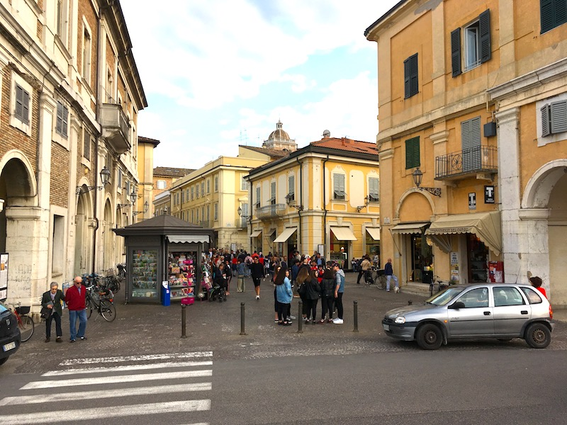Het centrum van Senigallia