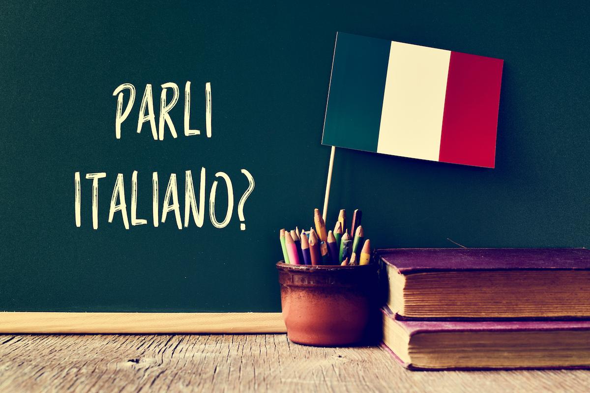 doeltaal = voertaal Italiaans