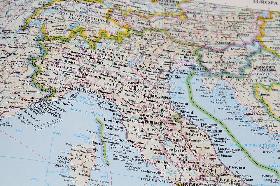Kaart Noord-Italië: waarheen ga jij?