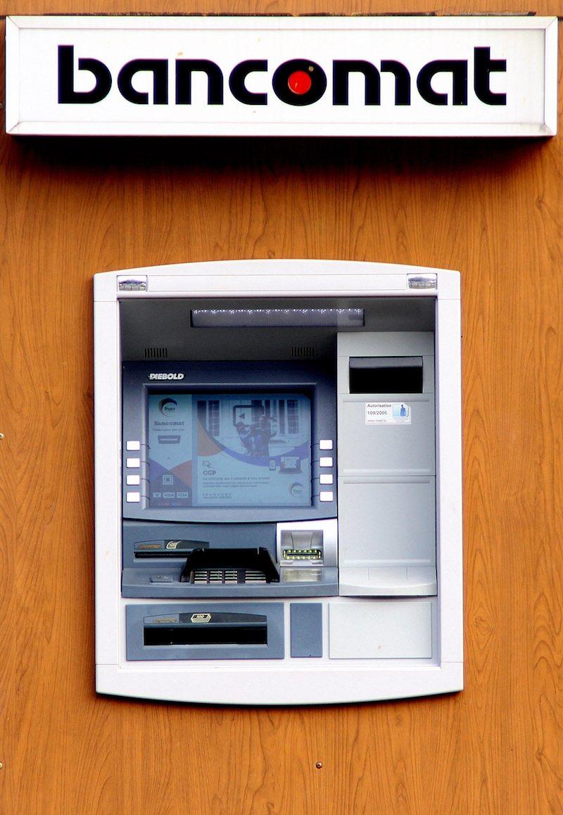 Een 'bancomat' in Italië