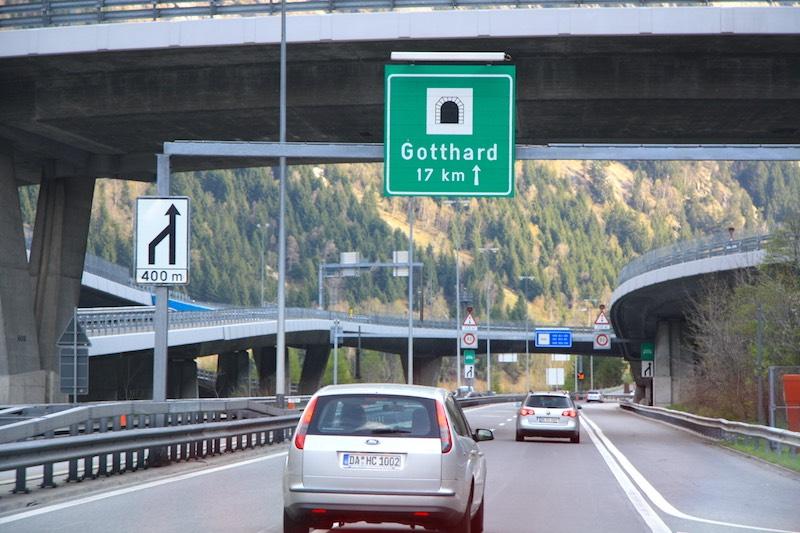 Knelpunt op de weg naar Italië: de Gotthardtunnel