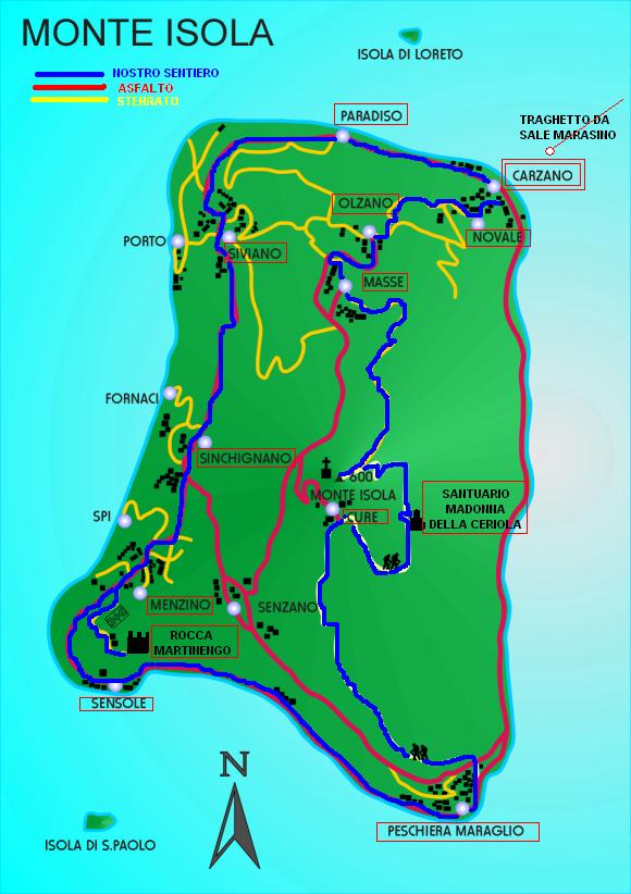 kaart Monte Isola