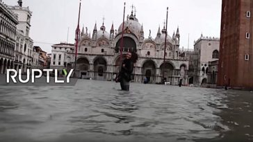 Extreme wateroverlast in Venetië