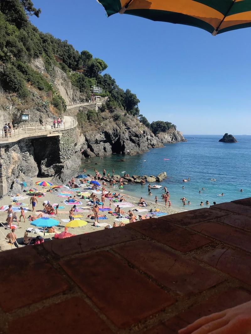Eindelijk tijd voor lunch in Monterosso