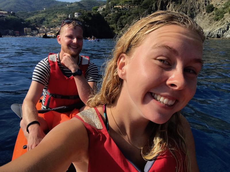 Kanotocht langs de dorpen van de Cinque Terre