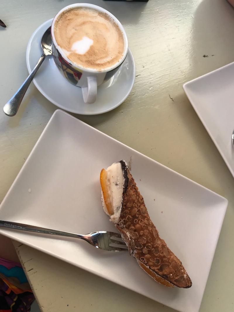 Het ontbijt in Riomaggiore