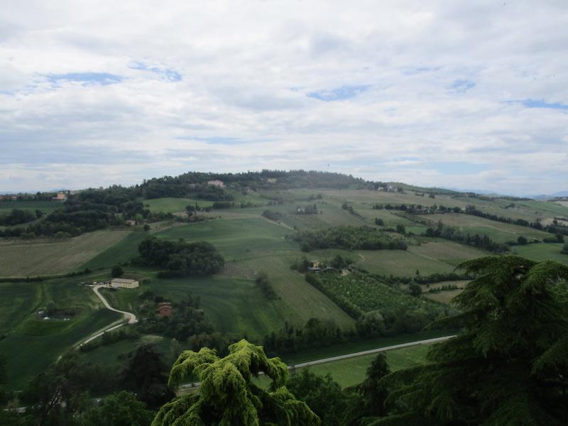 De Heuvels van Emilia-Romagna vanaf La Rocca