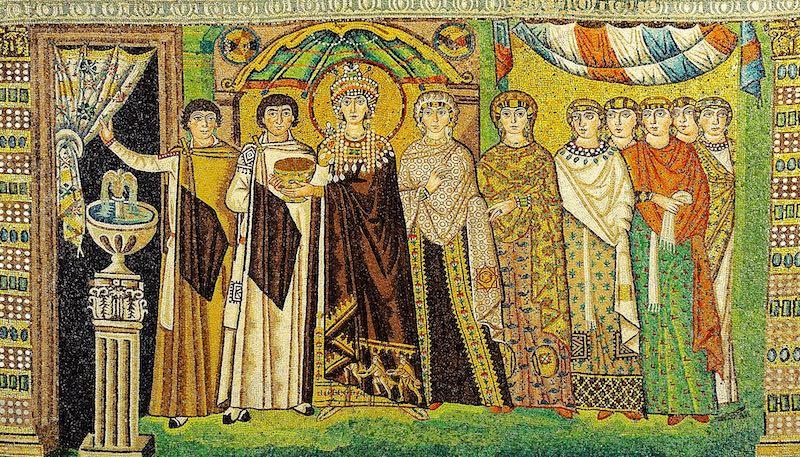 Mozaïek in de Basilica San Vitale in Ravenna