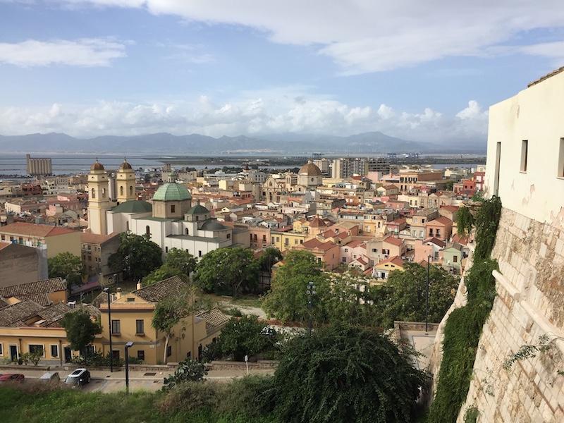 Zicht op Cagliari vanaf Castello