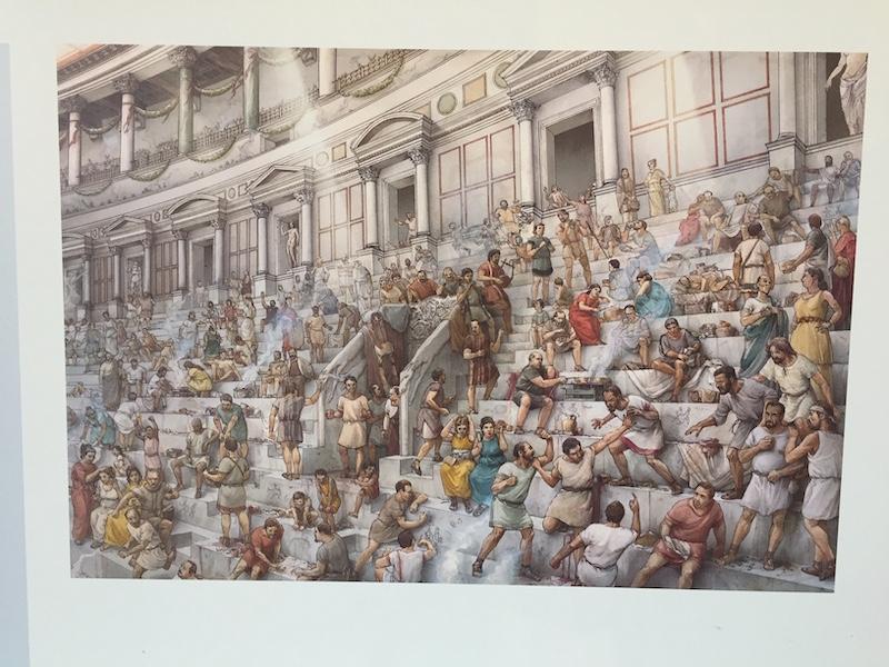 Impressie van de publieke tribune in het Colosseum
