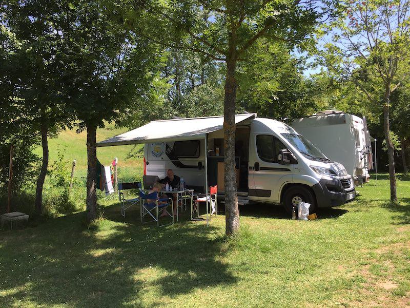 Ruimte op camping Ecochiocciola