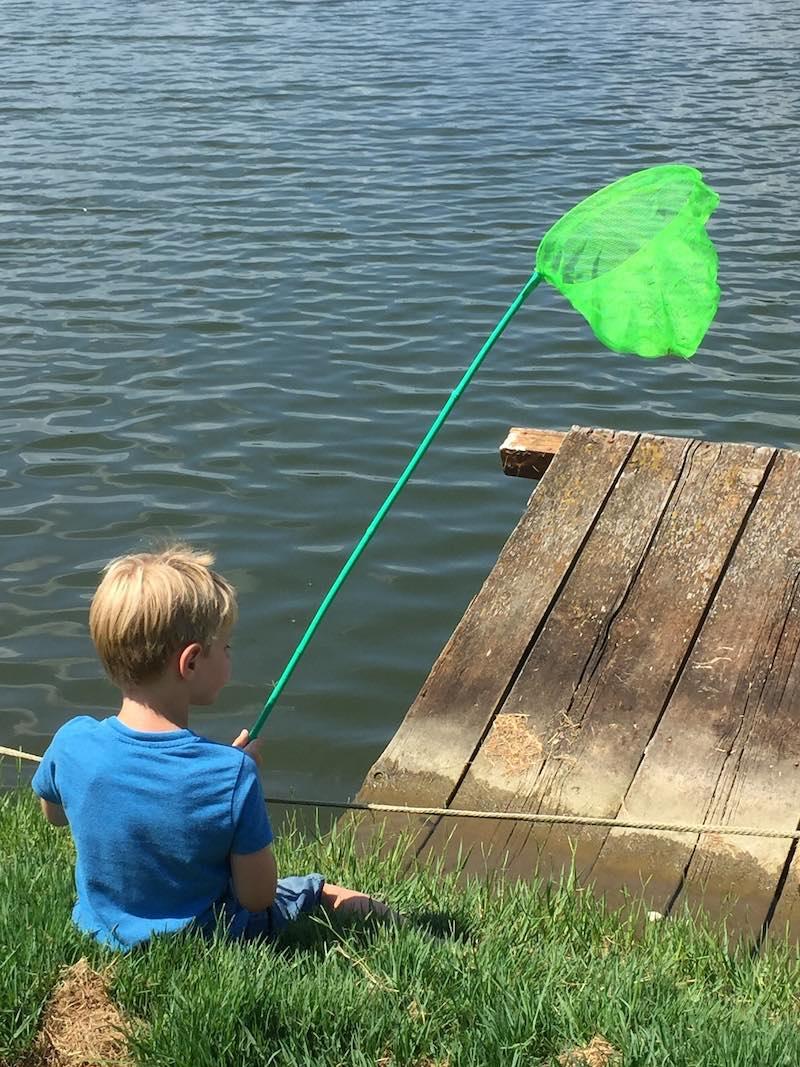 Vissen op camping Lago le Tamarici