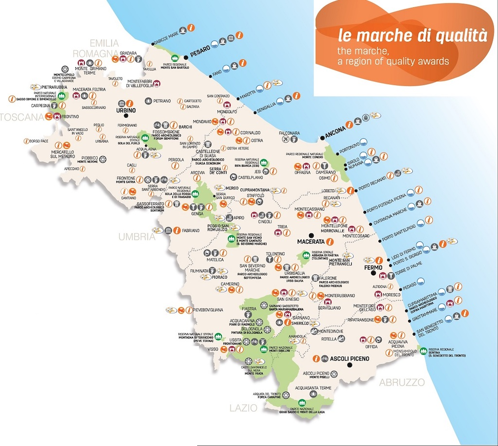 Kaart Le Marche
