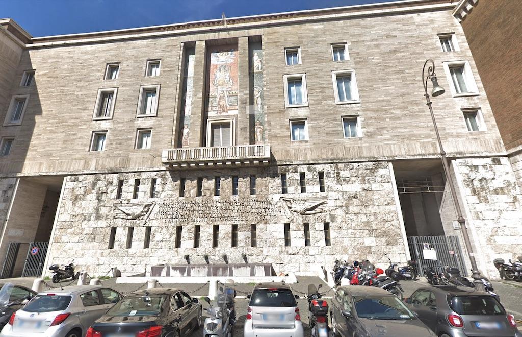 Het kantoor van INPS aan het Piazza Augusto Imperatore