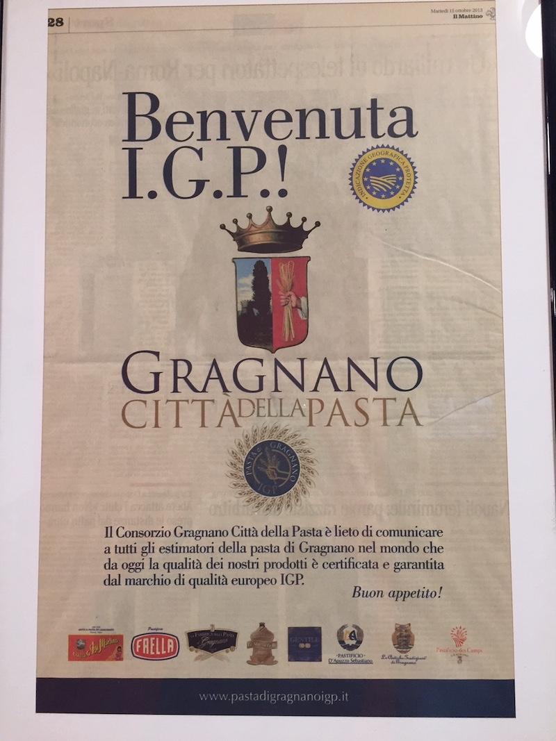 Pasta IGP (Indicazione Geografica Protetta)