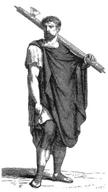 Romeinse lictor met fasces