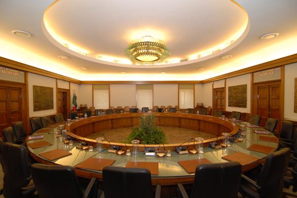 vergaderzaal in het Palazzo dei Marescialli