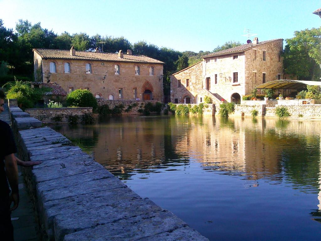 Baden als de Romeinen in Bagno Vignoni