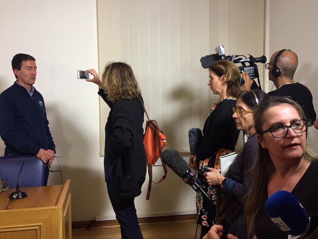 Mussolini staat de buitenlandse pers te woord