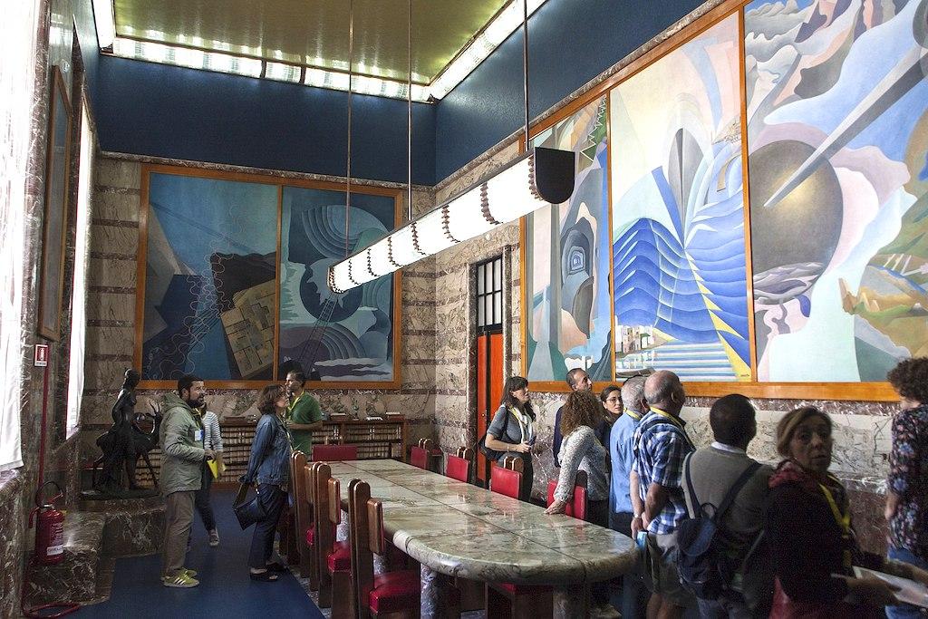 Conferentiezaal in het postkantoor van Palermo