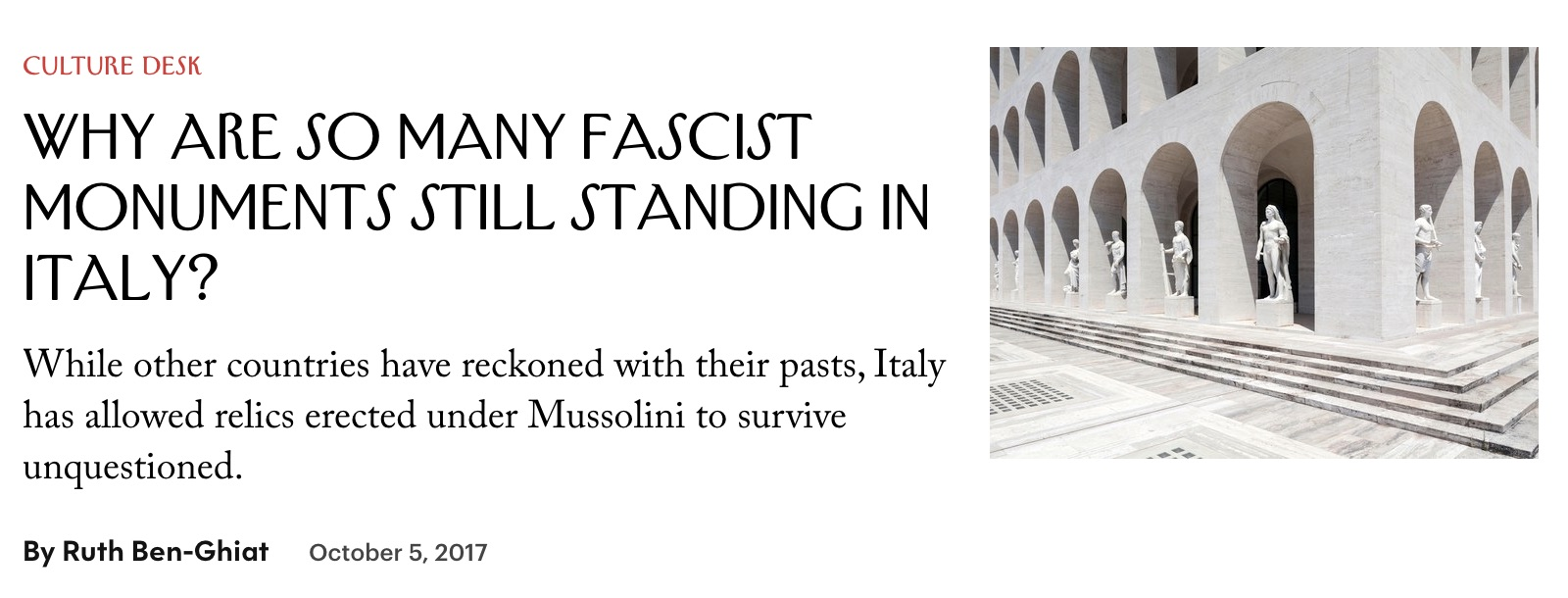 Wy are so many fascist building still standing in Italy?