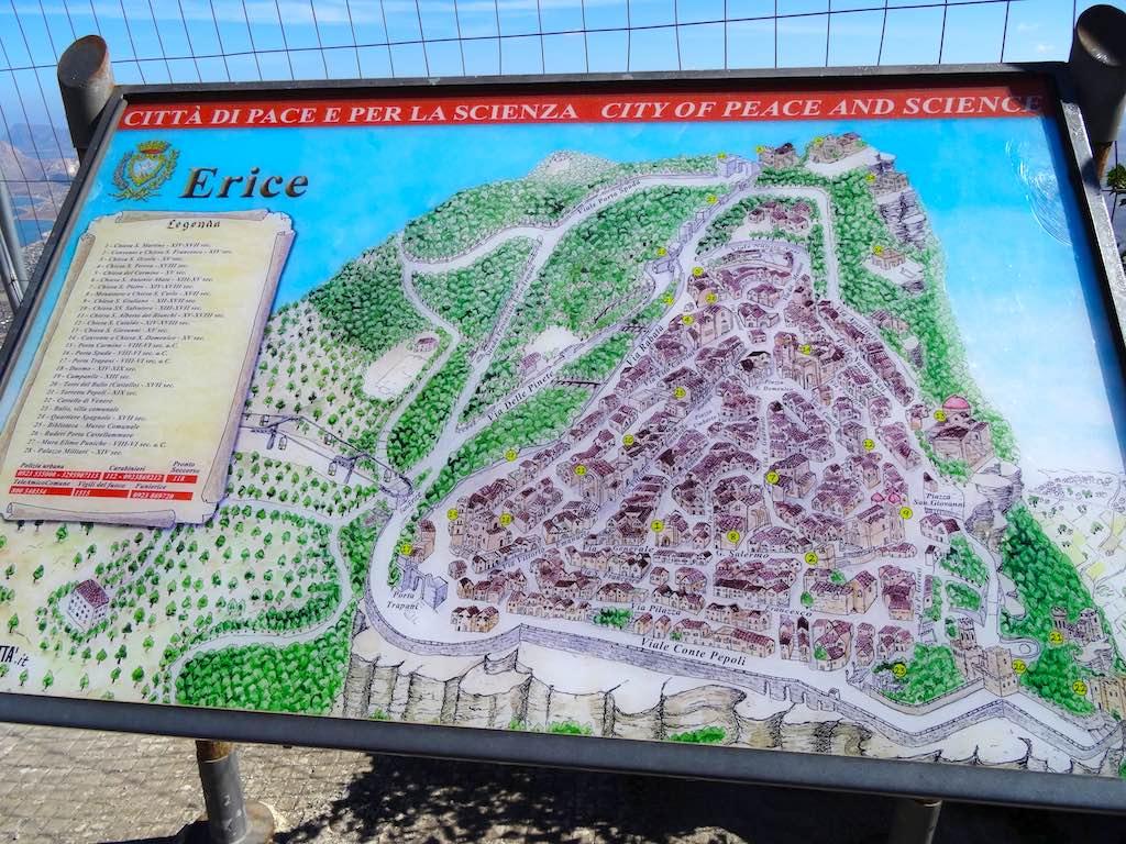 Plattegrond van de citadel van Erice