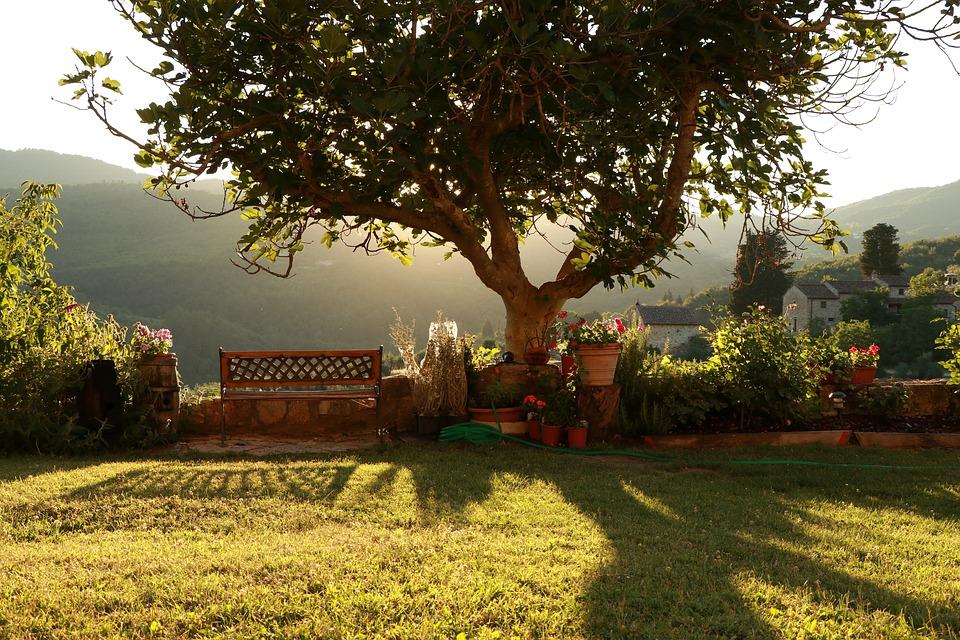 Zonsondergang in de Chianti-streek