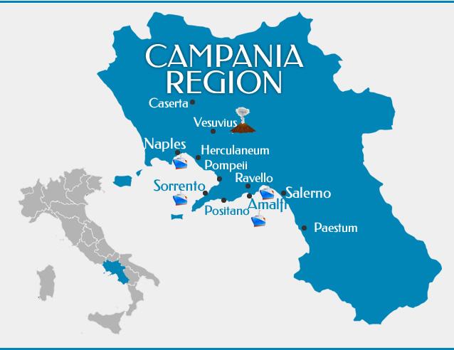 ligging van campania