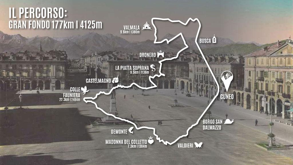 Parcours Granfondo Fausto Coppi