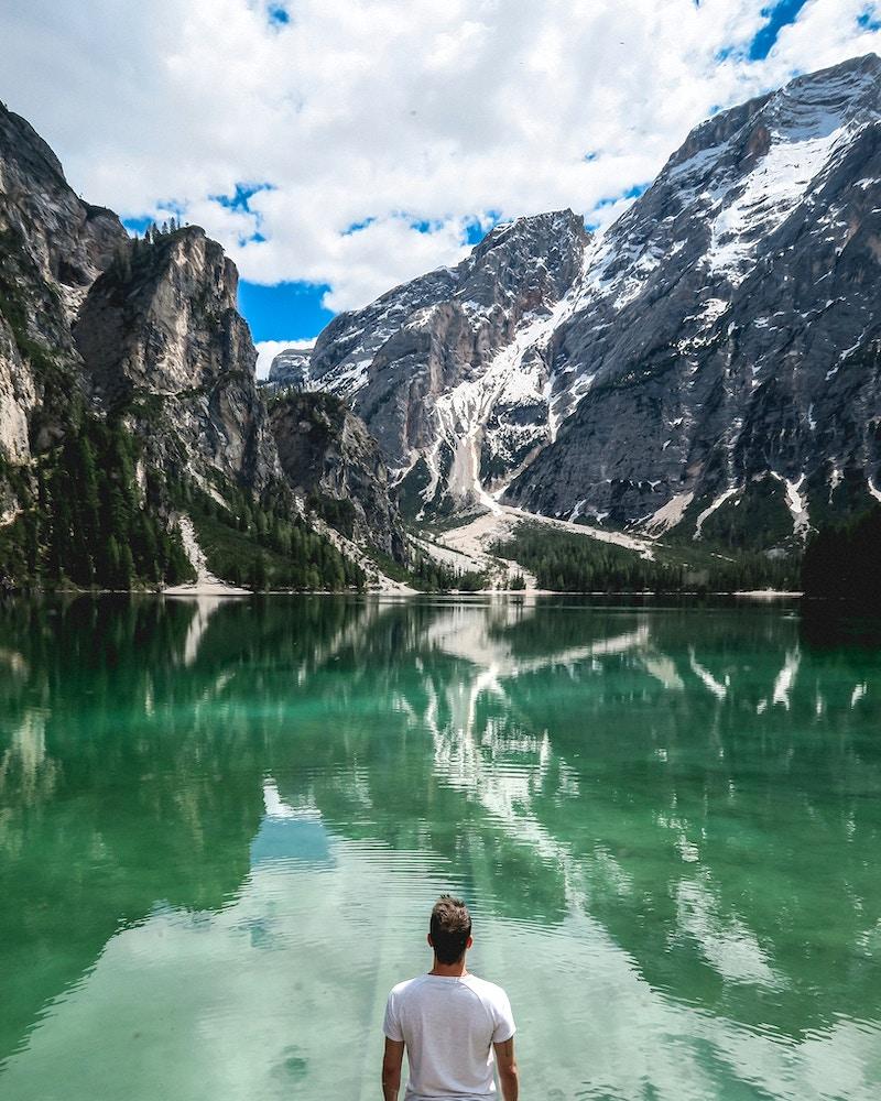 verkoeling in de Italiaanse bergen
