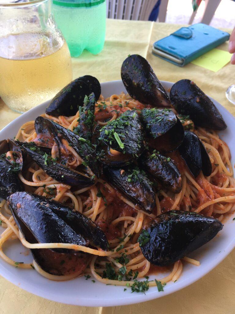 Mosselen eten in Calabrië