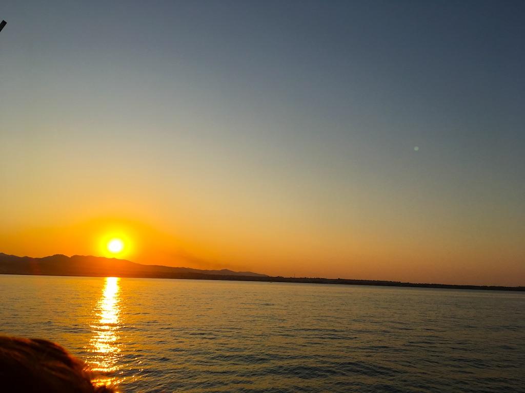 Zonsondergang Ionische Zee
