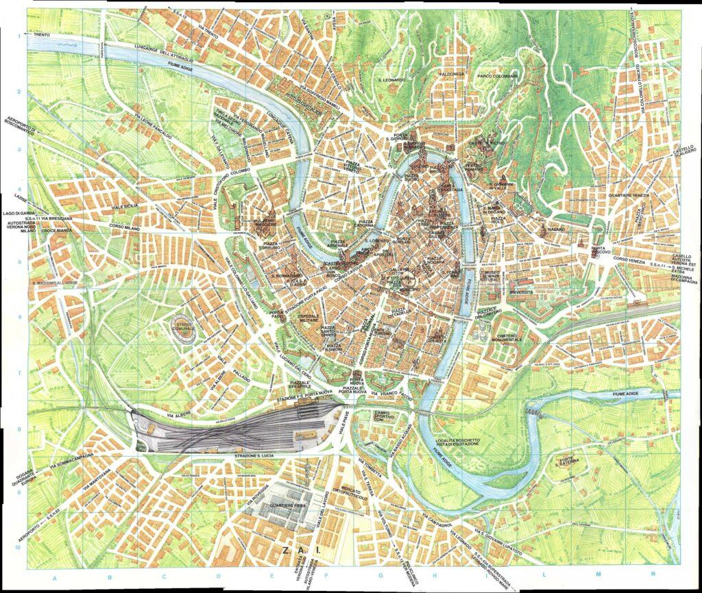 kaart Verona