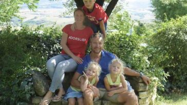 Wendy, Paul en hun kinderen Stan, Noor en Linde vertrokken naar Italië